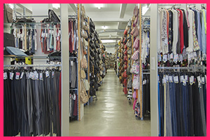 Large range of shoes, handbags and accessories
